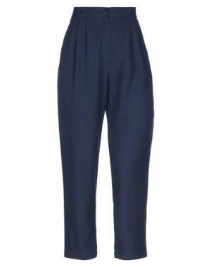 Повседневные брюки DES PETITS HAUTS. Цвет: темно-синий