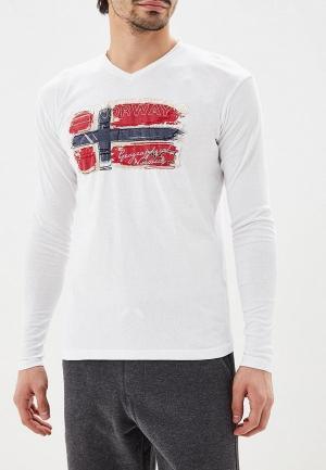 Лонгслив Geographical Norway. Цвет: белый