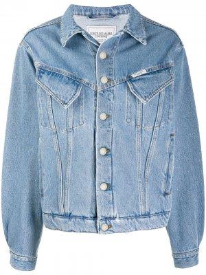 Джинсовая куртка с карманами Forte Dei Marmi Couture. Цвет: синий