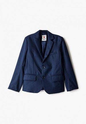 Пиджак Button Blue. Цвет: синий