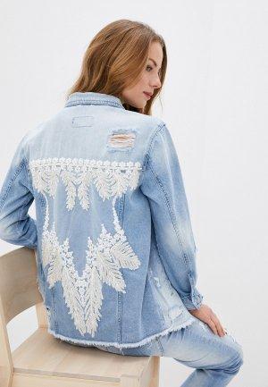 Куртка джинсовая Whitney. Цвет: голубой