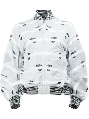 Куртка-бомбер с полосатым принтом Anrealage