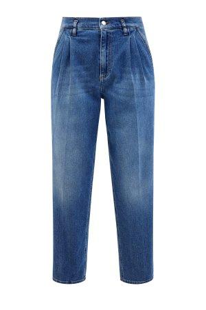 Укороченные джинсы свободного кроя с заложенными складками REDVALENTINO. Цвет: синий
