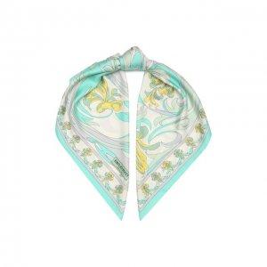 Шелковый платок Emilio Pucci. Цвет: зелёный