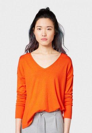 Пуловер Tom Tailor Denim. Цвет: оранжевый