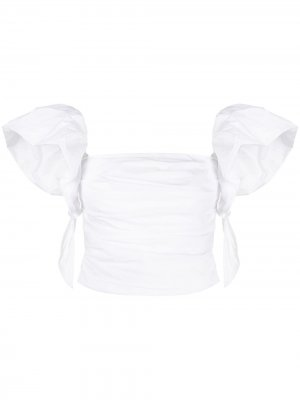 Ruffled sleeveless top Pinko. Цвет: белый