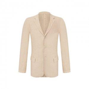 Льняной пиджак 120% Lino. Цвет: бежевый
