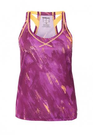 Майка спортивная Wilson W SP Painted Print BF Tank. Цвет: фиолетовый