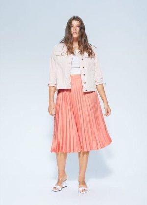 Плиссированная миди-юбка - Georgina Mango. Цвет: персиковый