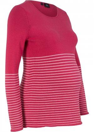 Пуловер для беременных bonprix. Цвет: красный