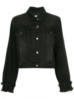 Джинсовая куртка с завязками на манжетах FRAME. Цвет: черный