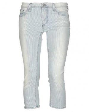 Джинсовые брюки-капри PT Torino. Цвет: синий