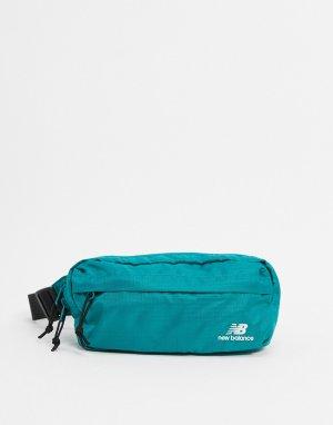 Сине-зеленая сумка-кошелек на пояс -Голубой New Balance