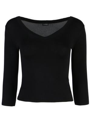 Шелковый пуловер La Perla. Цвет: черный