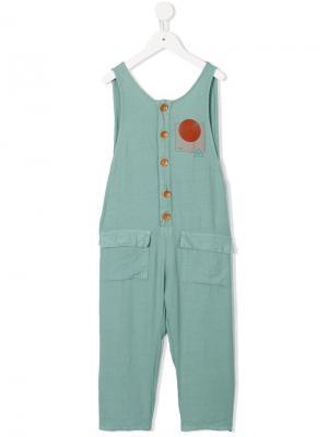 Geometric print jumpsuit Bobo Choses. Цвет: зеленый