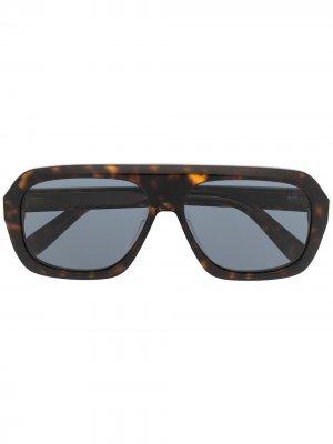 Солнцезащитные очки Ferry в прямоугольной оправе Dunhill. Цвет: коричневый