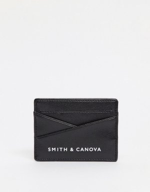 Кожаная кредитница Smith & Canova-Черный And Canova