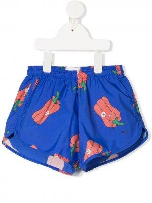 Плавки-шорты с принтом Bobo Choses. Цвет: синий