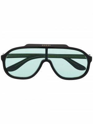 Солнцезащитные очки-авиаторы Gucci Eyewear. Цвет: черный