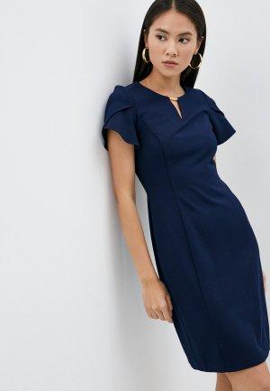 Платье DKNY. Цвет: синий