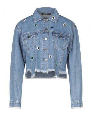 Джинсовая верхняя одежда PIANURASTUDIO. Цвет: синий