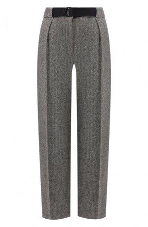 Шелковые брюки Rag&Bone. Цвет: серый