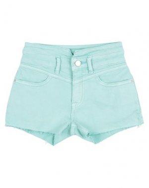 Джинсовые шорты CALVIN KLEIN JEANS. Цвет: светло-зеленый