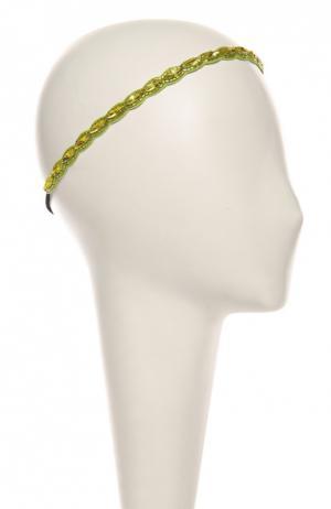 Повязка для волос Deepa Gurnani. Цвет: салатовый