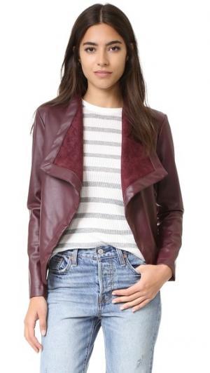 Peppin Vegan Leather Drapey Jacket BB Dakota