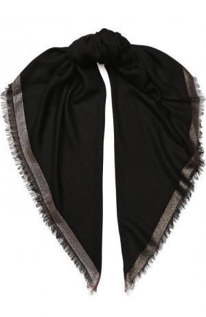 Платок Quadrata Luna из кашемира и шелка Loro Piana. Цвет: черный