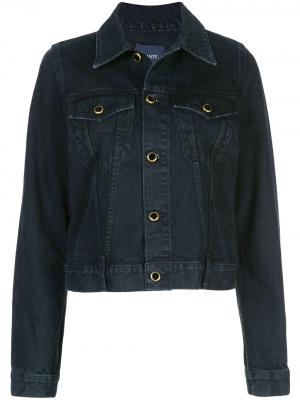 Короткая джинсовая куртка Khaite. Цвет: черный