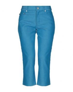 Джинсовые брюки-капри DKNY. Цвет: лазурный