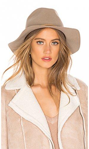 Шляпа федора wesley Brixton. Цвет: серо-коричневый