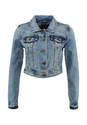 Куртка джинсовая Vila. Цвет: голубой