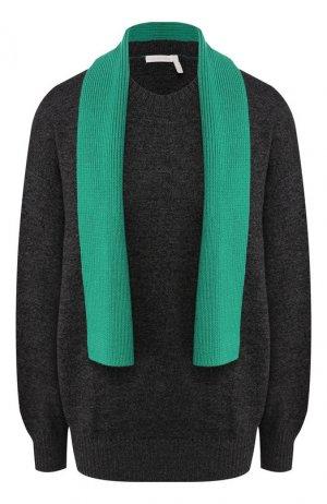 Шерстяной пуловер See by Chloé. Цвет: темно-серый