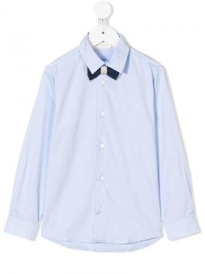 Рубашка с галстуком-бабочкой Bimbalo. Цвет: синий