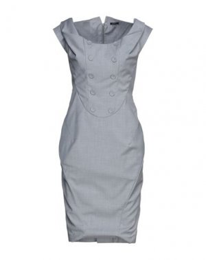 Платье до колена FULL CIRCLE. Цвет: серый