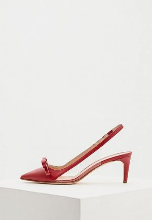 Туфли RED(V). Цвет: бордовый