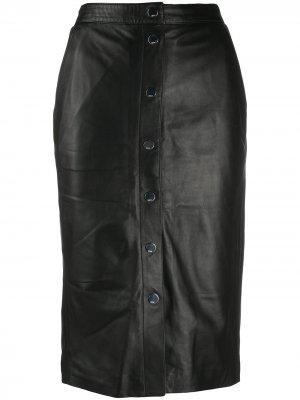 Юбка с завышенной талией Karl Lagerfeld. Цвет: черный