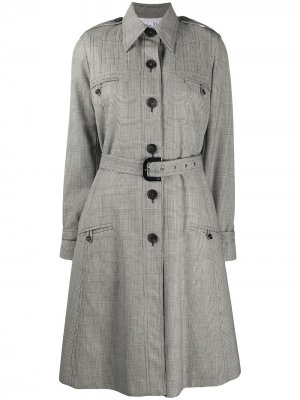 Тренч 2000-х годов в клетку Christian Dior. Цвет: серый
