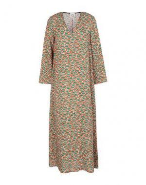 Платье длиной 3/4 ATTIC AND BARN. Цвет: ржаво-коричневый