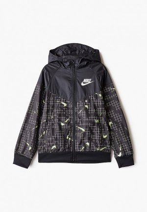 Ветровка Nike B NSW RTLP WINDRUNNER. Цвет: черный
