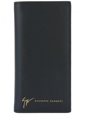 Бумажник с тиснением логотипа Giuseppe Zanotti Design. Цвет: чёрный