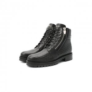 Кожаные ботинки Balmain. Цвет: чёрный