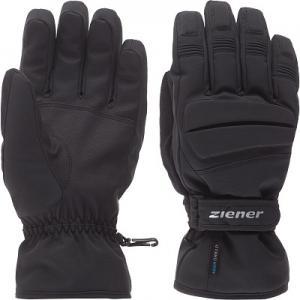 Перчатки мужские Glazier, размер 8,5 Ziener. Цвет: черный