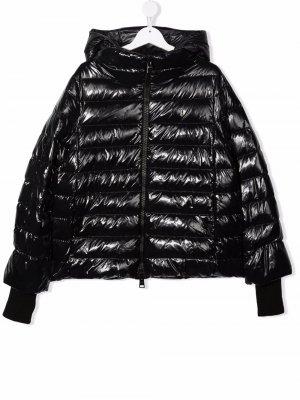 TEEN zip-up hooded padded jacket Herno Kids. Цвет: черный