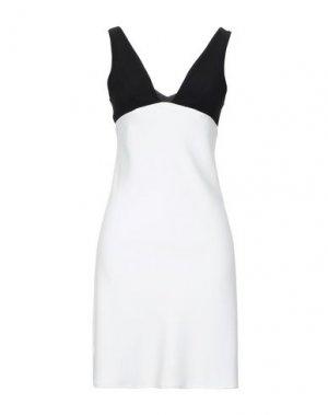 Короткое платье FRANCESCA PICCINI. Цвет: белый