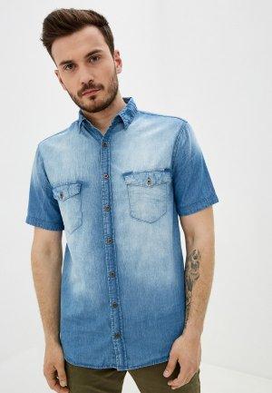 Рубашка джинсовая Velocity. Цвет: голубой