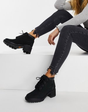 Черные ботинки на каблуке со шнуровкой Kinsley-Черный Timberland
