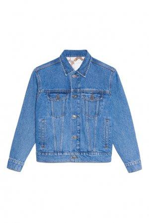 Голубая джинсовая куртка Sandro. Цвет: синий
